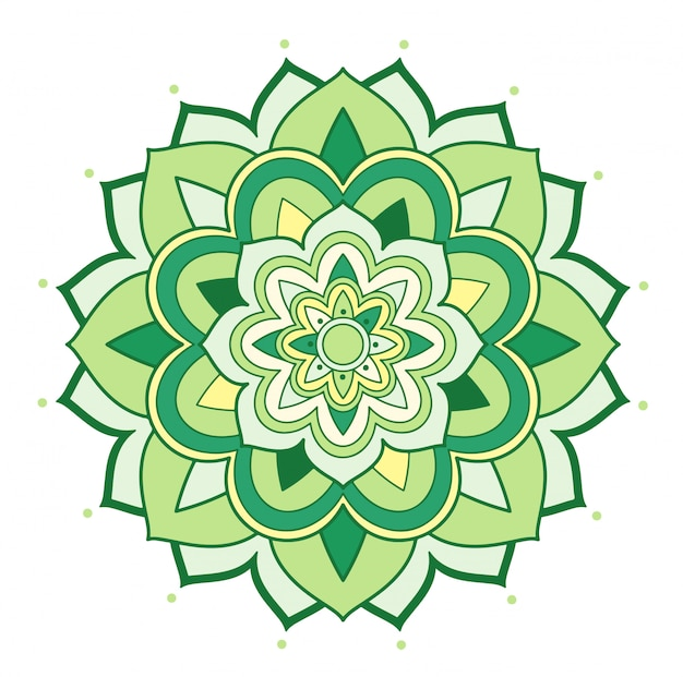 Mandala floral em branco