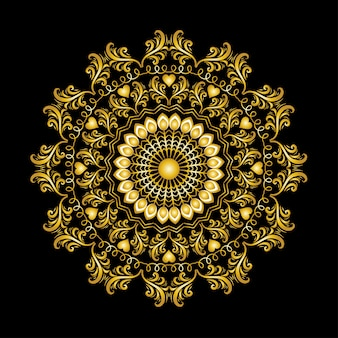 Mandala floral étnica Vetor Premium
