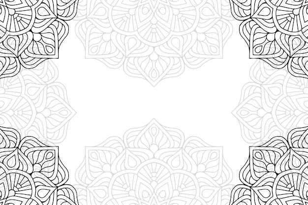 Mandala floral ornamental fundo