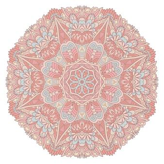 Mandala fofa em estilo contemporâneo em fundo branco isolado