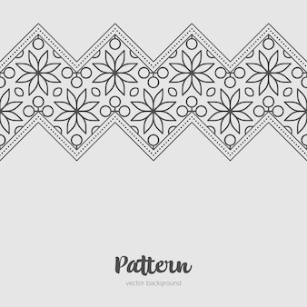 Mandala fundo estêncil doodles esboço