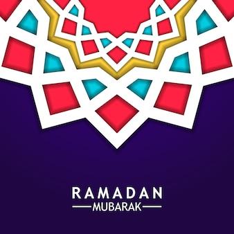 Mandala fundo geométrico estrela ramdan mubarak