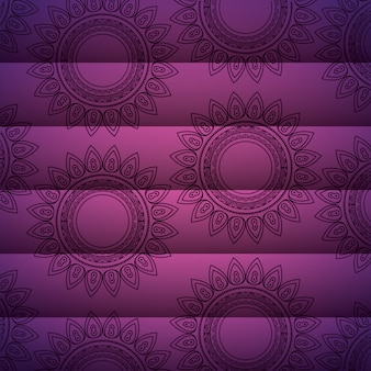 Mandala fundo motivo decorativo floral