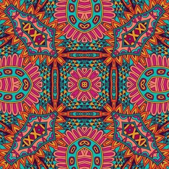 Mandala geométrica abstrata vintage padrão étnico sem costura ornamental