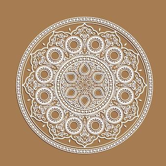 Mandala indiana - cortar cartões de papel com padrão de renda