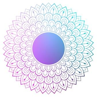 Mandala indiana de vetor