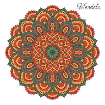 Mandala indiana de vetor.