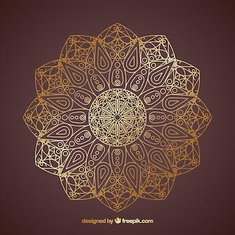 Mandala lineal dourada