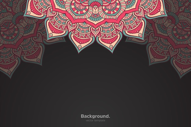 Mandala oriental abstrata