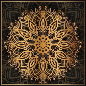 Mandala oriental desenhada de mão