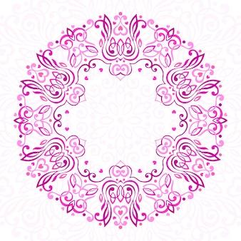 Mandala ornamentada abstrata.