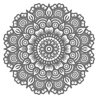 Mandala ornamental luxuosa isolada no branco