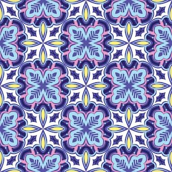Mandala ornamental padrão abstrato sem emenda