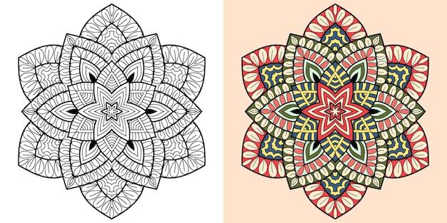 Mandala ornamental para colorir livro para adultos e crianças