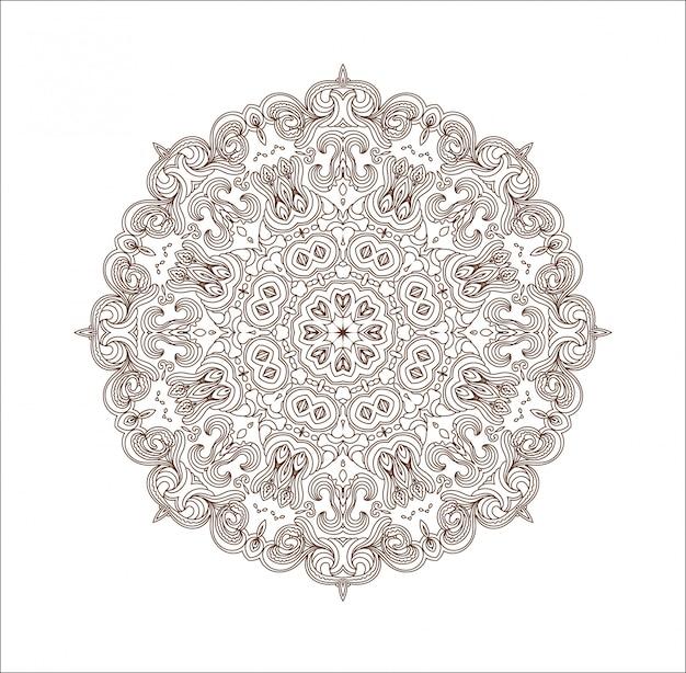 Mandala ornamento redondo.