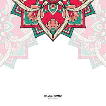 Mandala. padrão de ornamento redondo. origem étnica oriental