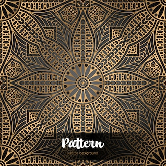 Mandala padrão estêncil doodles esboço