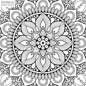 Mandala para colorir ilustração