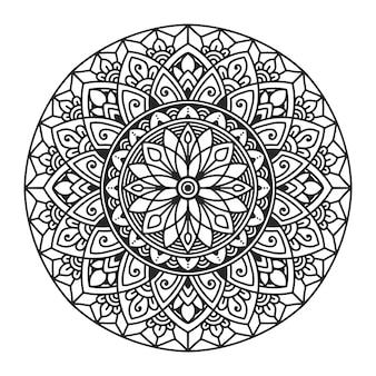 Mandala para colorir o design da página.