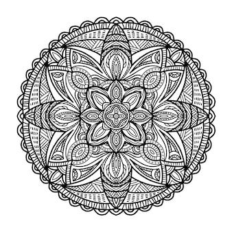 Mandala para impressão. ornamento tribal.