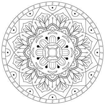 Mandala redonda ornamento padrão backgrund