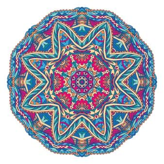 Mandala seamless pattern mandala art. estampa de medalhão de flores.