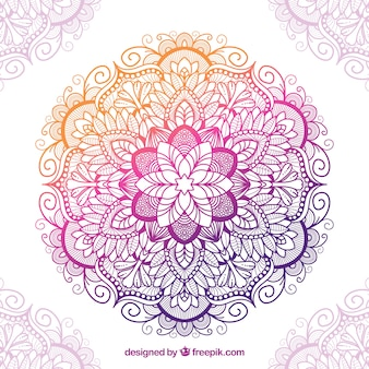 Mandala tradicional com estilo colorido