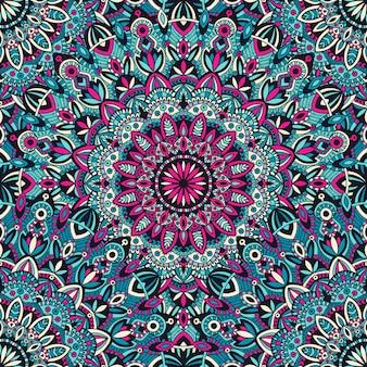 Mandala tribal vintage étnica padrão sem emenda para impressão