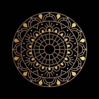 Mandala vector em gloden gradient
