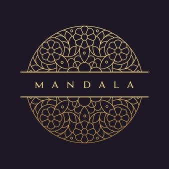 Mandala-vector logo / ícone de ilustração
