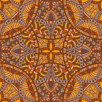 Mandala vector sem costura de fundo. ornamento tribal