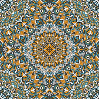 Mandala vector tribal vintage étnica sem costura padrão