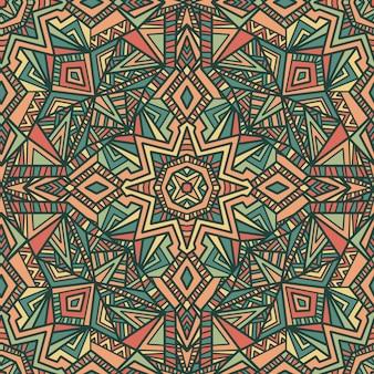 Mandala vetor sem costura de fundo. ornamento tribal.