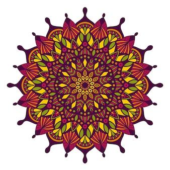 Mandala vintage design para impressão.