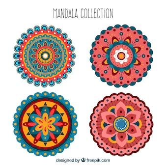 Mandalas bonitas e decorativas em design plano