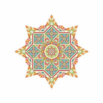 Mandalas de flores elementos decorativos vintage padrão oriental