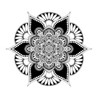 Mandalas livro para colorir, terapia oriental, yoga. Vetor Premium