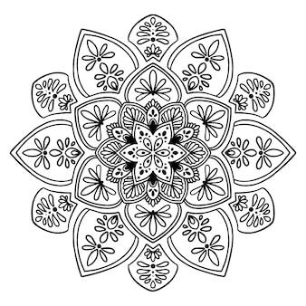Mandalas para livro de colorir. vetor oriental, padrões de terapia anti-stress. logotipos de ioga vec