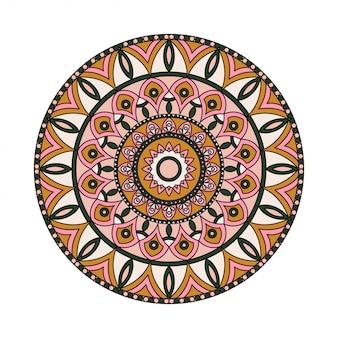 Mandalas redondas em vetor. modelo gráfico para seu projeto. ornamento decorativo de retrô. mão desenhada fundo com flores
