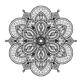 Mandalas rodadas para colorir livro. ornamentos decorativos redondos.