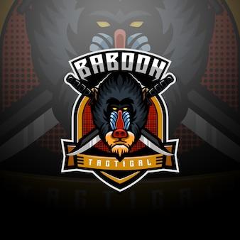 Mandrill baboon logo esport