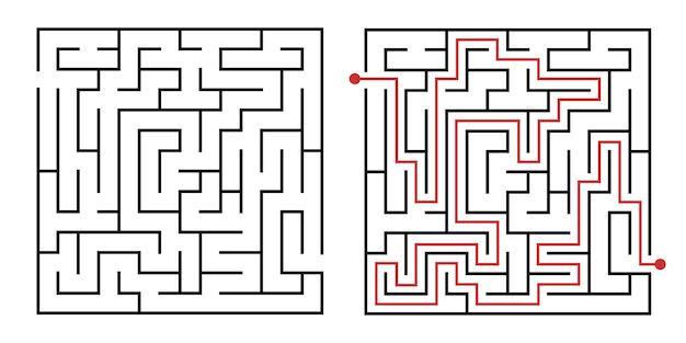 Maneira de jogo do labirinto.