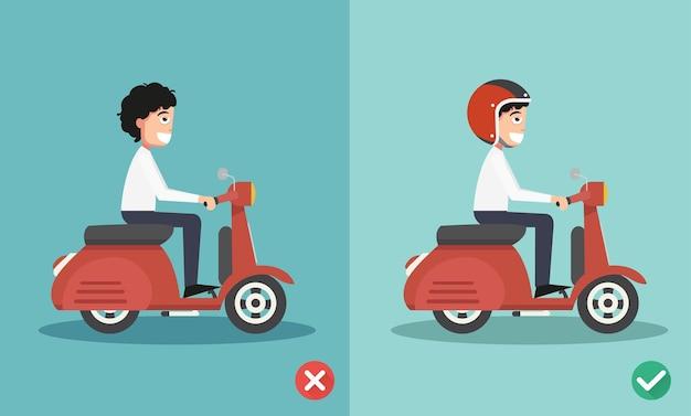 Maneiras certas e erradas de andar para evitar acidentes de carro. ilustração