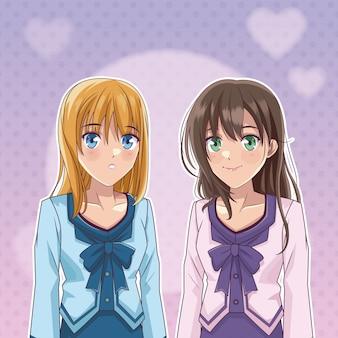 Manga de anime para mulheres jovens e bonitas
