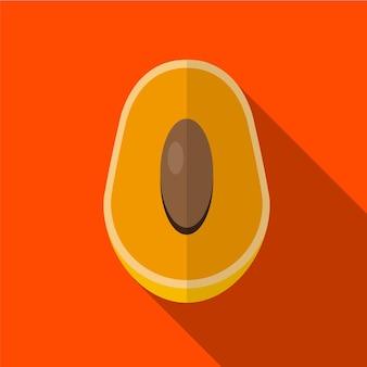 Mango flat icon ilustração isolado símbolo de sinal de vetor