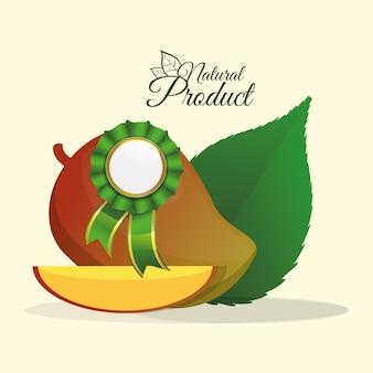 Mango natural product label premium qualidade