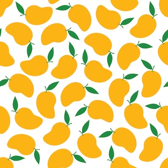 Mango seamless pattern background vector design