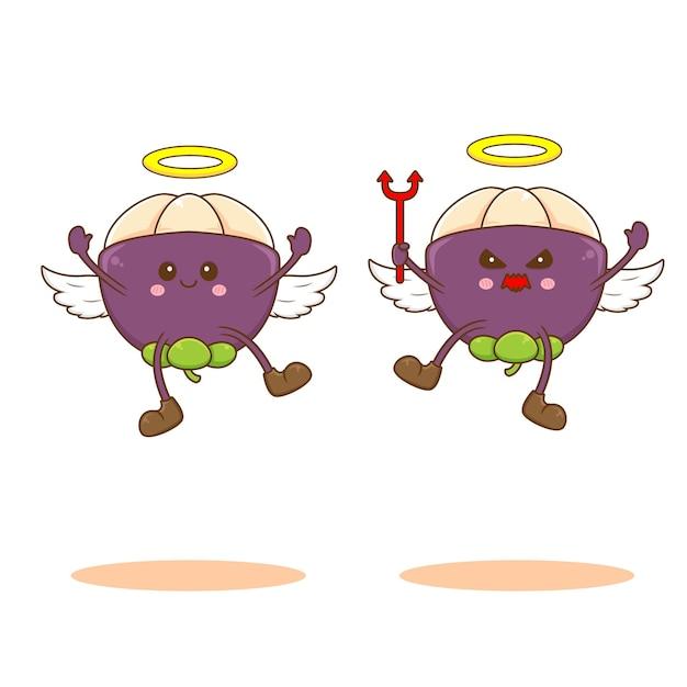 Mangostão como um anjo