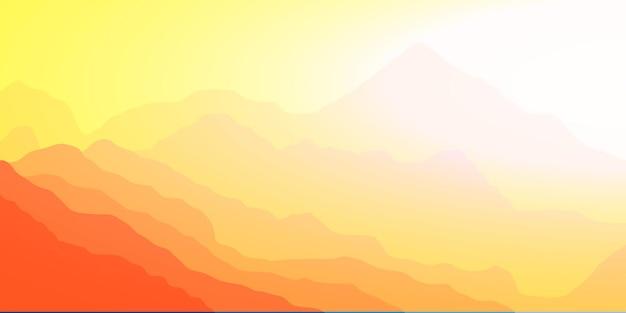 Manhã clara nas montanhas