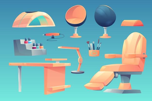 Manicure, móveis de salão de pedicure, conjunto de aparelhos